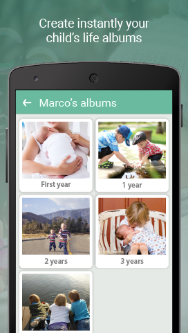 Create automatically you kids´ life albums. Your photos organised always
