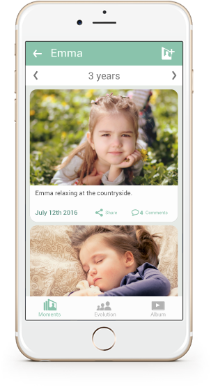Dowload the app and easily save, share and enjoy your memories in a private, safe manner.