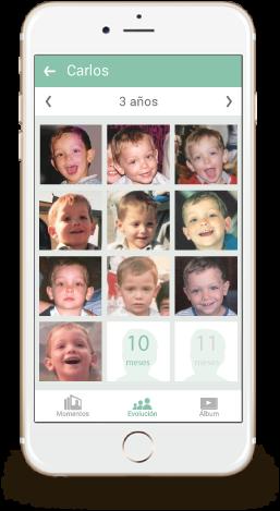 Guarda la evolución de tus hijos, echa una foto de su cara mes a mes.