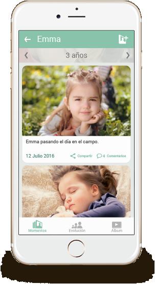 Descarga la app de Kuicco y comparte las fotos de tus hijos de forma segura