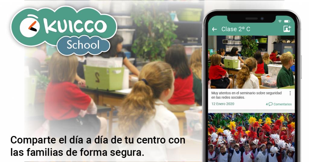 kuicco school comunicación familias profesorado